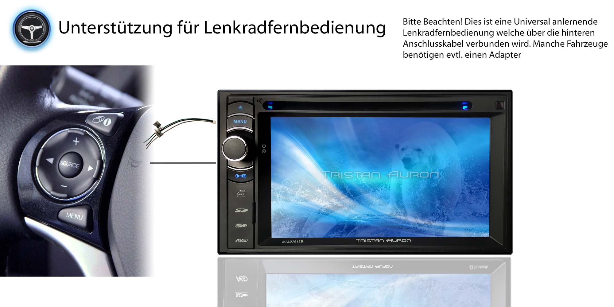 autoradio bluetooth dab navigation mit bildschirm navi 2. Black Bedroom Furniture Sets. Home Design Ideas